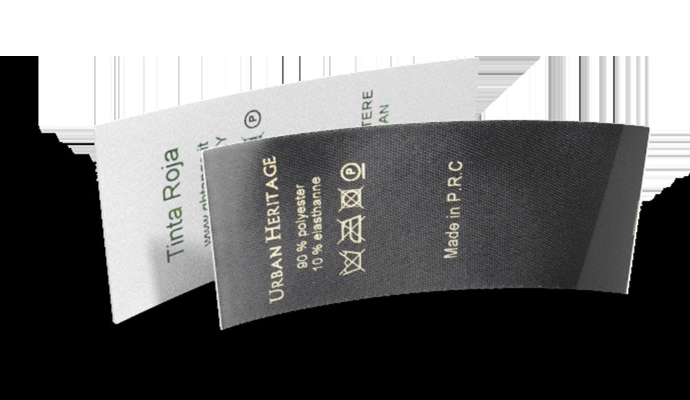 Printed Satin Textile Composition & Care Labels - design online