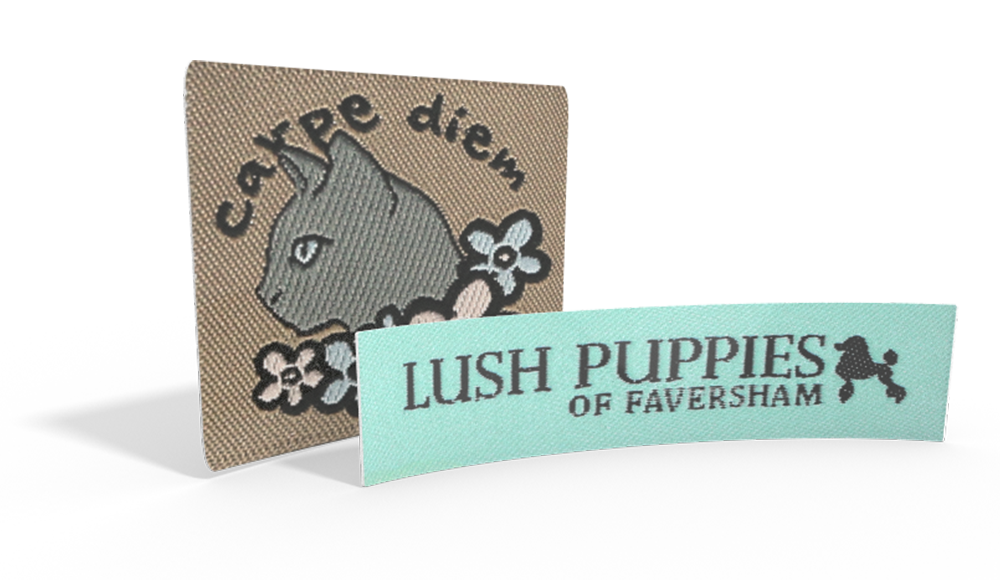 Bespoke Woven Labels - upload your own logo or artwork