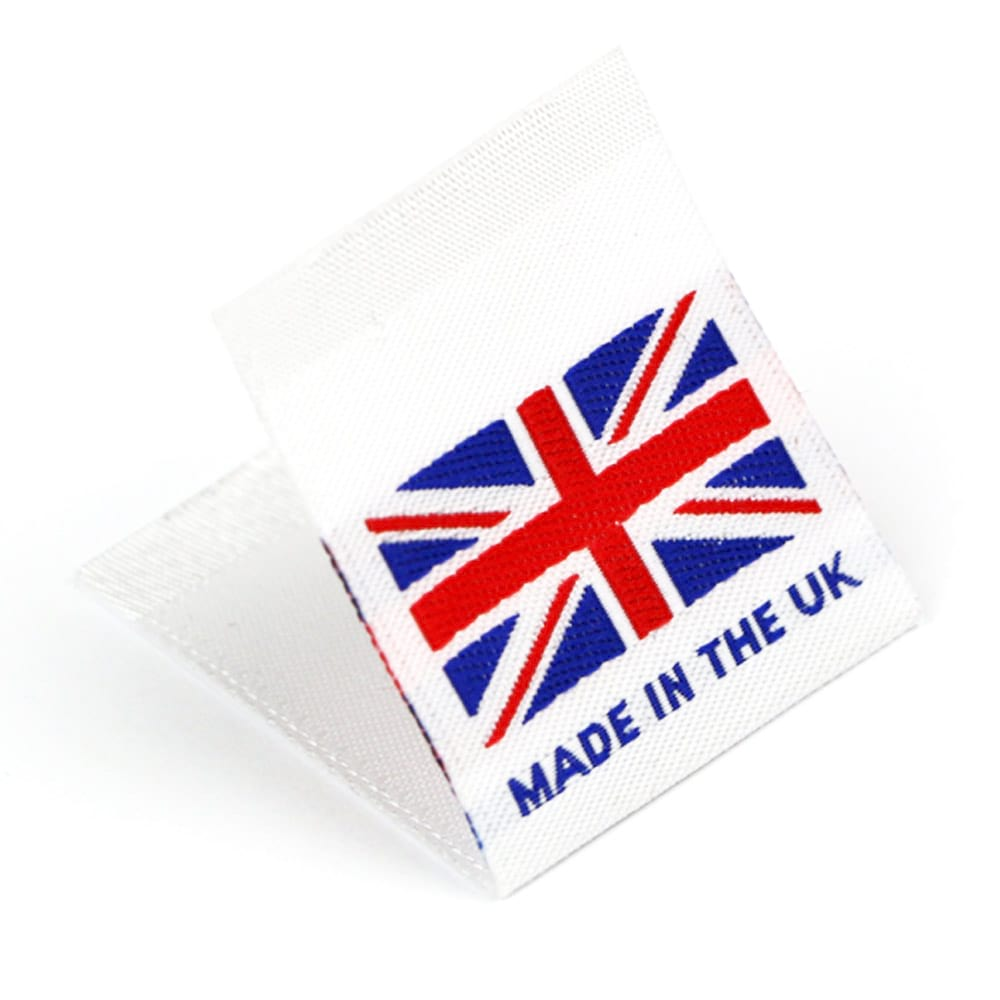 Woven 'Made in the UK' Flag Labels