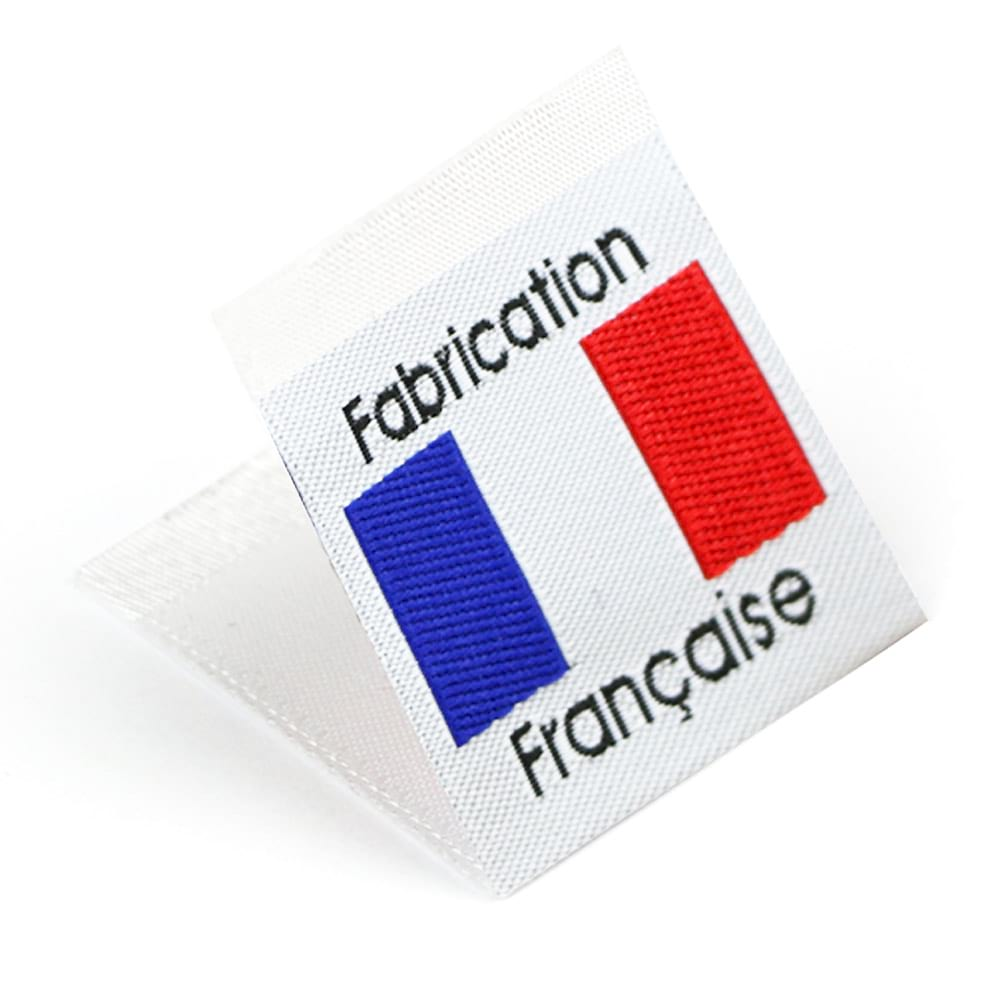 Woven 'Fabrication Française' Flag Labels