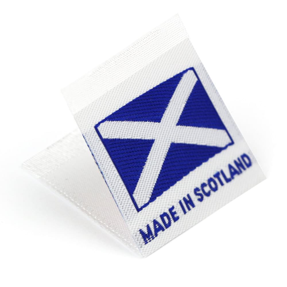 Woven 'Made in Scotland' Flag Labels