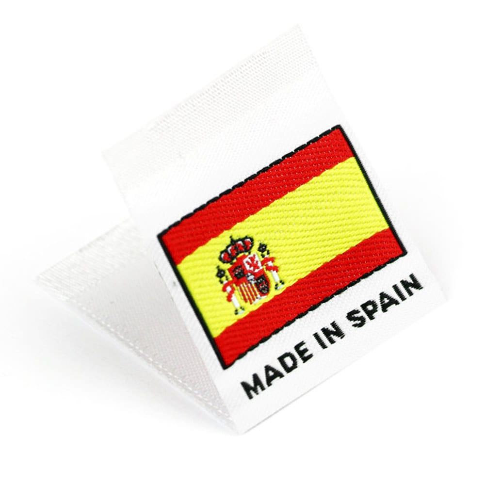 Woven 'Made in Spain' Flag Labels