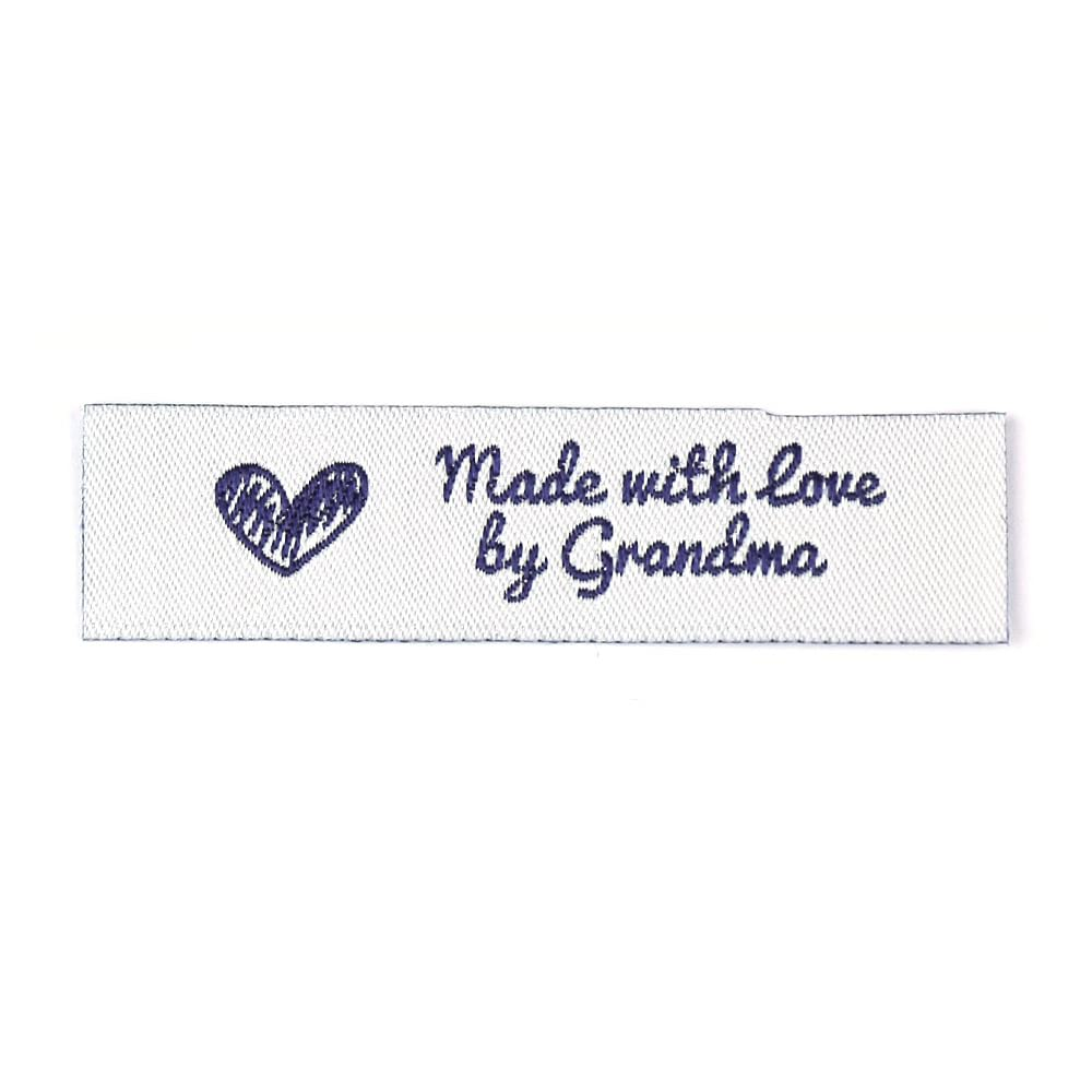 Woven Labels - Made with love by Grandma