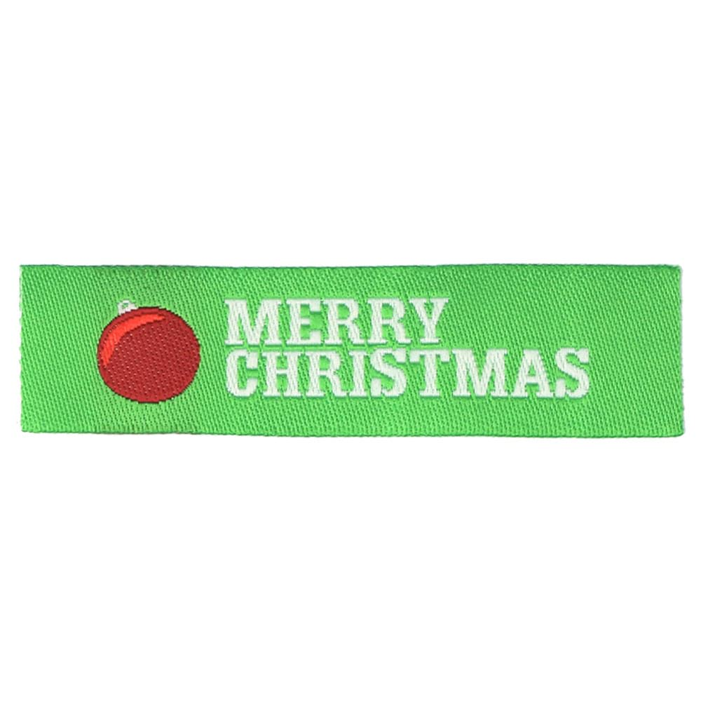Christmas Woven Labels - Ornament
