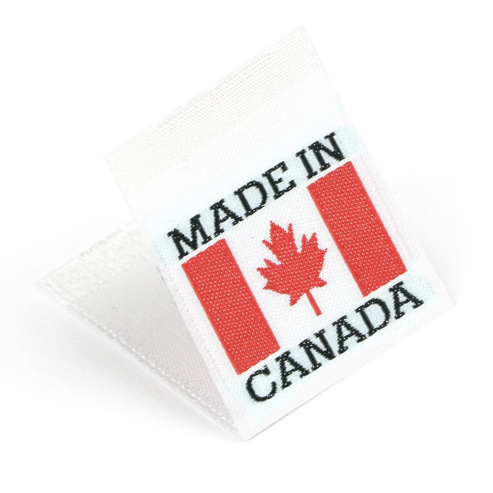 Woven 'Made in Canada' Flag Labels