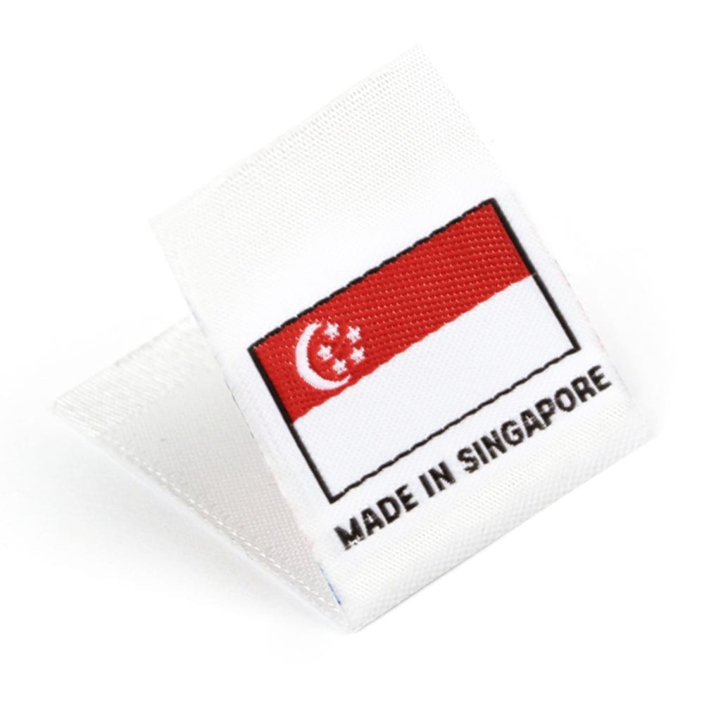 Woven 'Made in Singapore' Flag Labels