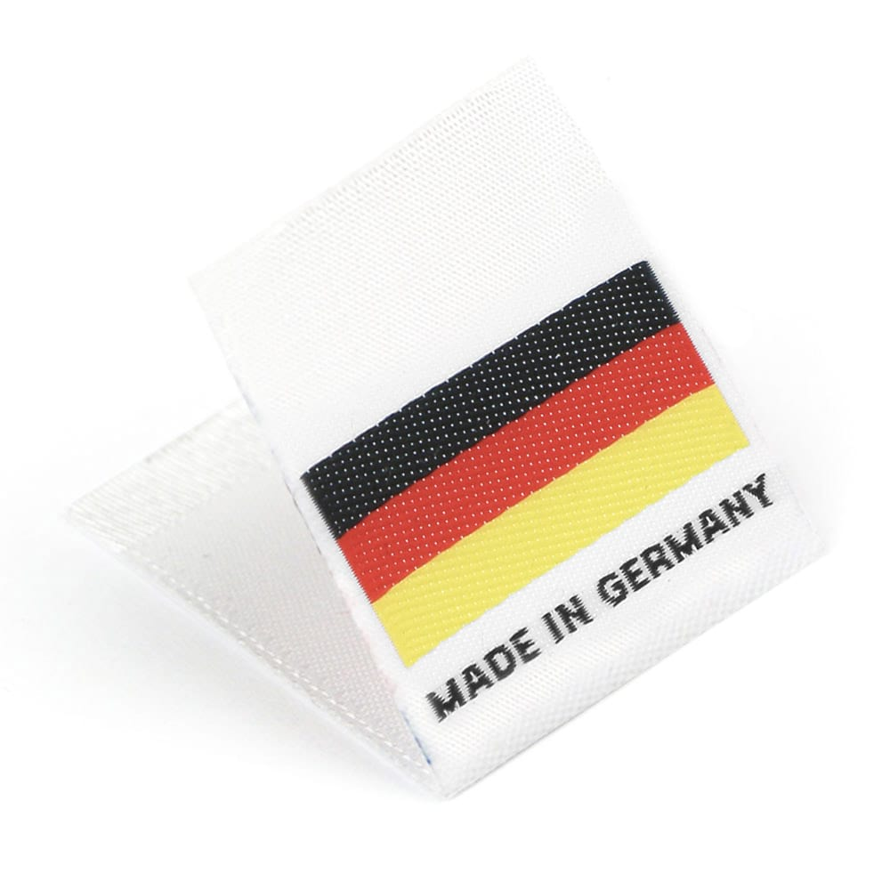 Woven 'Made in Germany' Flag Labels