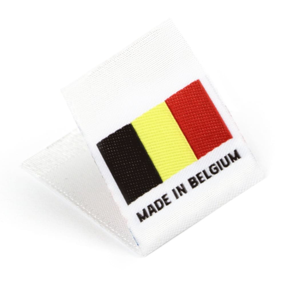 Woven 'Made in Belgium' Flag Labels